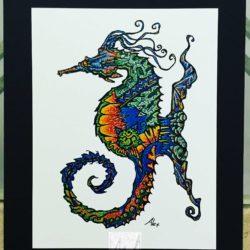Cool Seahorse Print
