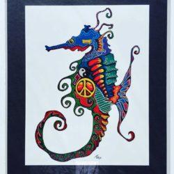 Seahorse Peace Print
