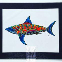 Sun Shark Print
