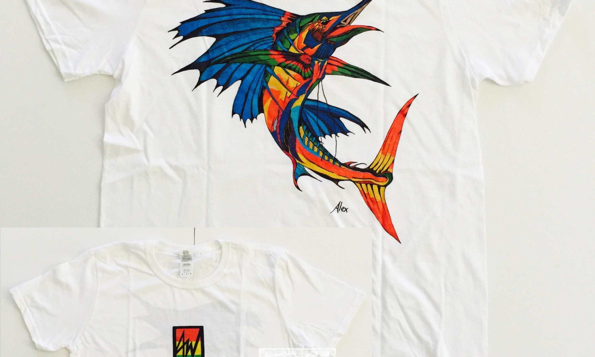 Tshirt Colorful Sailfish